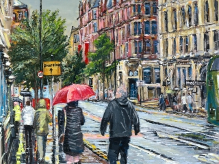 Princess Street, Manchester painting