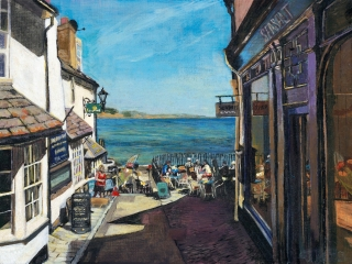 Lyme Regis Seafront painting
