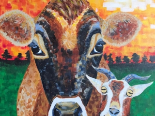 Cow and Goat Painting