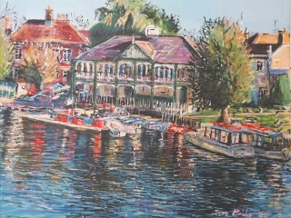 'The Boathouse', Stratford-upon-Avon - Acrylic on Canvas board