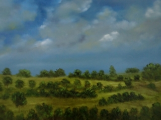 A Warm Day On The Wolds Oil Painting