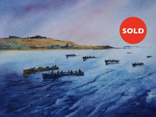 Isles of Scilly, Pilot Gigs - Watercolour